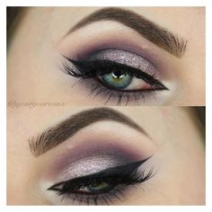 10 Purple Smokey Eye Looks ❤ liked on Polyvore featuring beauty products, makeup, eye makeup and eyeshadow