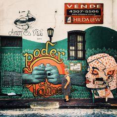 Poder Latino #streetart #buenosaires #santelmo