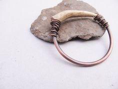 Antler Bangle Bracelet Real Antler Bracelet Large Chunky Bangle Rustic Jewelry DanielleRoseBean Real Deer Antler Jewelry