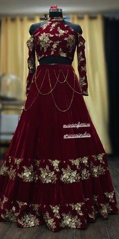 @raashik99 Indian Gowns Dresses, Indian Fashion Dresses, Dress Indian Style, Indian Designer Outfits, Stylish Dresses For Girls, Unique Dresses, Desi Wedding Dresses, Designer Party Wear Dresses, Lehnga Dress
