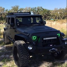 black jeep green lights, I need those headlamps!
