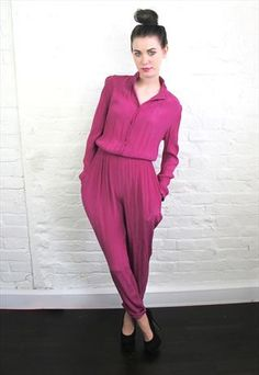 Vintage Long-sleeved Jumpsuit