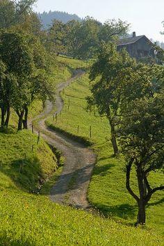 Winding Road, Thones, France