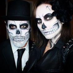 """Skull couple "" Photo taken by @paulina_allure on Instagram, pinned via the InstaPin iOS App! http://www.instapinapp.com (11/01/2014)"