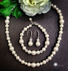 95fce52ad6 Bridal Pearl Set Mother of Bride Mother of Grom by Glitzette