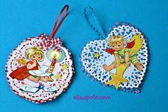 DIY, Cómo hacer Adornos Vintage para el Árbol de Navidad, Vintage Christmas Tree Ornaments