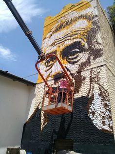 2013 Portrait of Renato Guttuso, Emergence Festival, Giardini Naxos, Sicily