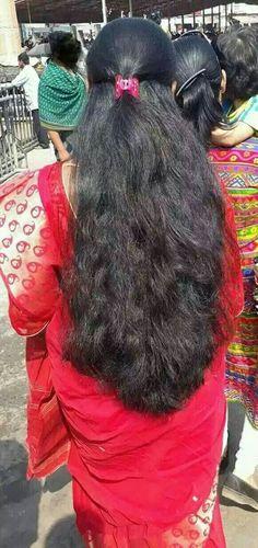 Indian Long Hair Braid, Long Hair Ponytail, Bun Hairstyles For Long Hair, Braids For Long Hair, Braid Hair, Beautiful Long Hair, Gorgeous Hair, Long Dark Hair, Thick Hair