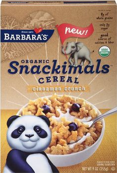Barbara's Organic Snackimals Cereal, Cinnamon Crunch, 9 Ounce - http://goodvibeorganics.com/barbaras-organic-snackimals-cereal-cinnamon-crunch-9-ounce/