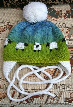 Adorable sheep baby hat...free pattern on Ravelry!.
