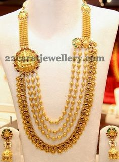 Antique Contemporary Haram and Jhumkis   Jewellery Designs