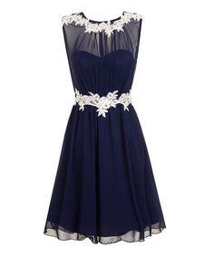 Navy & White Amanda Dress #zulily #zulilyfinds