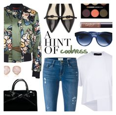 """A Hint Of Coolness"" by stacey-lynne ❤ liked on Polyvore featuring Dsquared2, Frame Denim, 3.1 Phillip Lim, Jacques Marie Mage, Monica Vinader, tarte and Lancôme"
