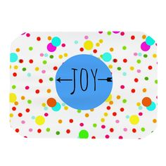 "Sreetama Ray ""Oh Joy"" Rainbow White Place Mat"
