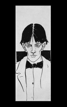 Beardsley, Aubrey - 1892 Self Portrait, a Pen and Ink Wash (British Museum, London) Art Nouveau, Brighton, Japanese Woodcut, Aubrey Beardsley, British Museum, Traditional Art, Painting & Drawing, Illustrators, Selfies