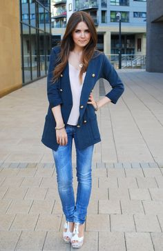 Relaxed dressing - military and denim