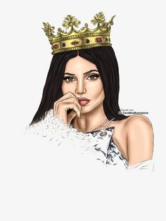 Kylie Jenner by David Lee Illustrations Flower Crown Tumblr, Flower Girl Crown, Tumblr Drawings, Girly Drawings, Black Girl Art, Black Women Art, Desenho Kylie Jenner, Kylie Jenner Zeichnung, Kylie Jenner Drawing