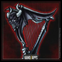 Demon Summoner Harp for Viking Clan  #kanoapps #demonharp #harp #vikingclan #conceptart Art Reference, Ninja, Concept Art, Harp, Conceptual Art