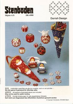 Stenboden Beading pattern Book where some of the decorations use Rice beads from Glitterwitch Craft Kits, Craft Supplies, Beaded Christmas Ornaments, Pattern Books, Bead Crafts, Bead Weaving, Beading Patterns, Booklet, Christmas Holidays