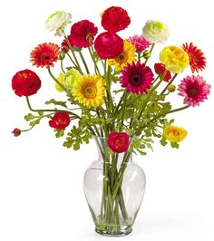 Flowers - Daisies, poppies, pink, red, yellow