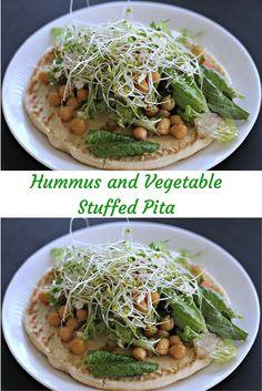 Hummus Stuffed Pita With Roasted Vegetables Recipe — Dishmaps