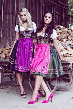 I really like the idea of sporting t-straps with a dirndl - Mademoiselle Anouk - Herbst/Winter 2012/13. #dirndl #dress #German #Austrian #folk #traditional #costume #Oktoberfest #shoes