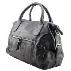 Italian Made, Genuine Leather Handbag - Flora Black Sky How To Make Handbags, Melbourne Australia, Leather Handbags, Buy Now, Flora, Italy, Sky, Stuff To Buy, Black