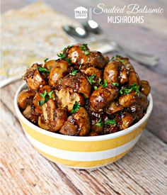 Paleo Sauteed Balsamic Mushrooms - paleocupboard.com