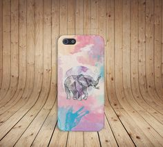 Geometric Pastel Elephant Case for iPhone 5/5s, iPhone 5C, iPhone 4/4s, and Samsung Galaxy