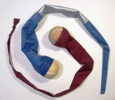Make a Homemade Foxtail-type Toy. These would make great poi or dog toys!