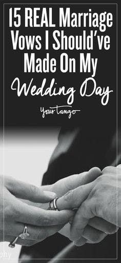 15 Marriage Vows I Should Have Made To My Husband | YourTango