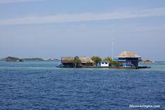 Beach Houses on mini islands are everywhere around Isla de Rosario Cartagena Colombia Isla De Rosario and Playa Blanca, Barú –Tropical Paradises of Colombia
