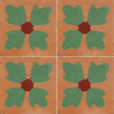 Ladrilho Hidráulico Decorado Modelo Flor