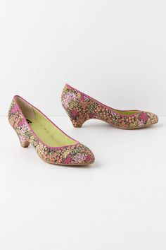 Anthropologie Tapetti kitten heels - perfect for tall girls!