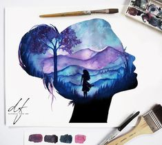 Acrylic painting tips, galaxy painting, acrylic art, watercolour Galaxy Painting, Galaxy Art, Art Drawings Sketches, Cute Drawings, Paintings Tumblr, Arte Disney, Acrylic Art, Oeuvre D'art, Painting & Drawing