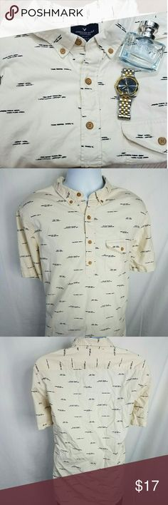 American Eagle Classic Fit Nautical Button Up Great used condition!   Chest Front - 23 inches Shoulder to Hem - 29 inches American Eagle Outfitters Shirts Casual Button Down Shirts