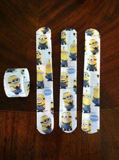 Minion Party Favors | Minion duck tape snap bracelets for party favors. | Party Ideas