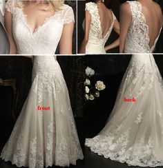 Dorcas Raghu Customized Open Back V-neck Wedding Dress