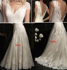 Dorcas Raghu Customized Open Back V-neck Wedding Dress