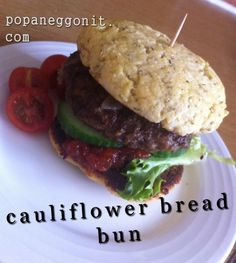 cauliflower bread bun .... Can't wait to try these out!!!!