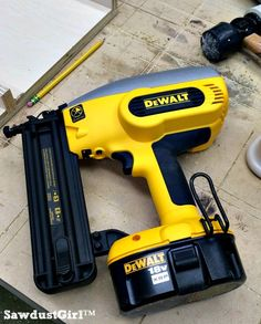 I use nail guns all the time!  I have quite a collection of pneumatic (air powered) nail guns.  I built a handy cart to hold my compressor, nail guns, nails and a whole lot of other tools and it's ...