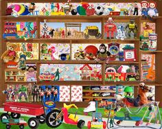 """Toys We Had"" Jigsaw Puzzle.  Retro Toys Puzzle."