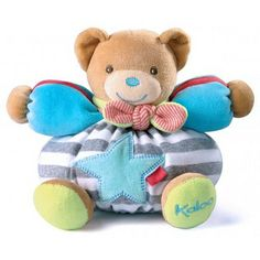 KALOO BLISS SMALL CHUBBY BEAR - $32.95 - Kaloo's Bliss range is a favourite with young and old alike. No exception to the Kaloo rule, Chubby Bear with his inbuilt rattle and a star on his tummy, is sure to delight and captivate babies and comfort them as they grow. A great present for new additions, it comes beautifully presented in a giftbox. #sweetcreations #baby #boys #gifts #babyshower #keepsake #kaloo