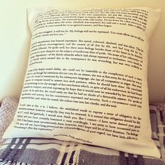 Pride And Prejudice Cushion Cover  Book Page by LiteraryEmporium, £14.00