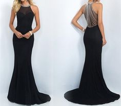 Long evening dress black mermaid sexy prom dresses from rhythmic