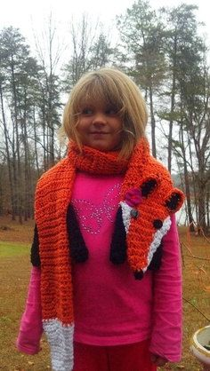 Fox Scarf by LakeLivingDesigns on Etsy, $30.00