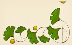 ginkgo border and corner motif Stencil Patterns, Stencil Art, Art Nouveau, Art Deco, Arts And Crafts Interiors, Art And Craft Design, Popular Art, Craftsman Style, Craftsman Decor