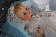 "Vintage Madame Alexander 12"" Sweet Tears baby doll - drinks, wets, sleeps - BEAUTIFUL condition"