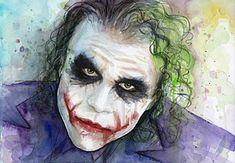 Joker Painting - The Joker Watercolor by Olga Shvartsur