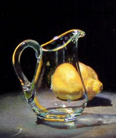 Jeffrey Hayes: Contemporary Still Life Paintings: Glass Creamer and Lemon Realistic Paintings, Paintings I Love, Oil Paintings, Paintings Of Fruit, Indian Paintings, Abstract Paintings, Landscape Paintings, Painting Still Life, Still Life Art